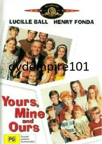 Yours Mine And Ours DVD Genuine Henry Fonda New and Sealed Australia All Regions