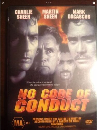 No Code Of Conduct DVD Charlie Martin Sheen New Sealed Australia Region 4