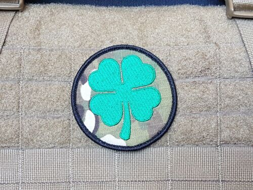 Irish 4 Leaf Clover, Airsoft Gelsoft - Military Multicam Morale Patch