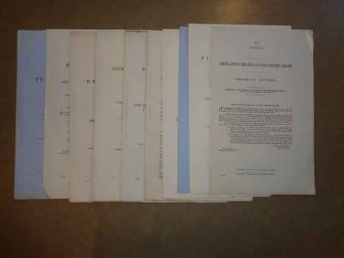 Victorian Parliamentary papers x 10 1800's * great condition *