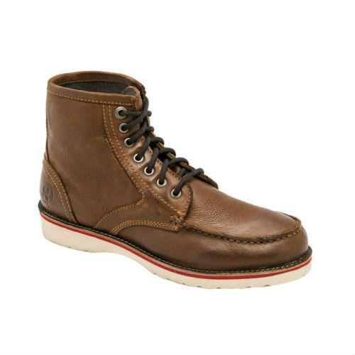 Jesse James Sturdy Leather Work Boots In Cognac Tan **FREE UK DELIVERY**