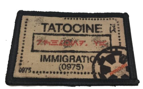 Star Wars Tatooine Passport Stamp Morale Patch Tactical ARMY Hook Military USAArmy - 48824