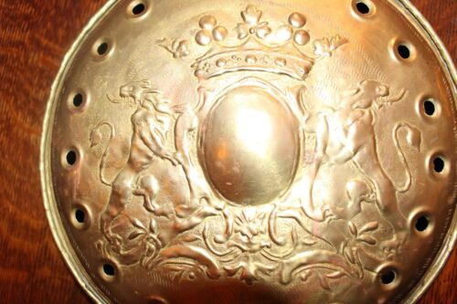 Superb English Brass Bed Warmer 18th Century