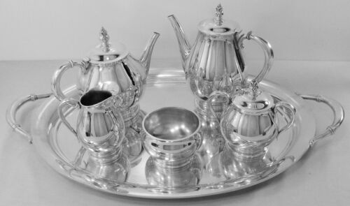 Royal Danish Sterling Silver 6-PC TEA & COFFEE SET with Waiter