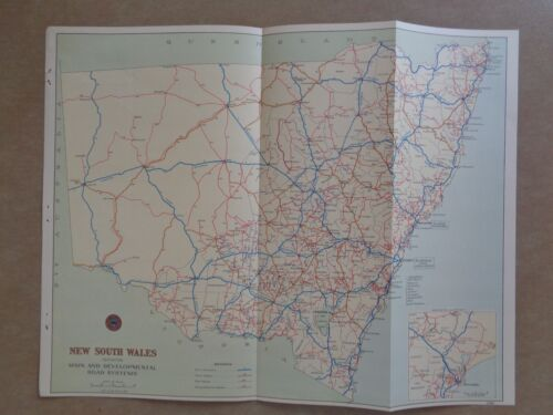 Colour NSW Road Map 1947 *great condition*