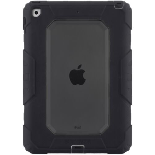 Griffin GB43543 Survivor All-Terrain Rugged Case for iPad 9.7 2017 - Black/Black