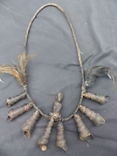 "ORIG $399 IFUGAO SHAMANS NECKLACE 14"" EARLY 1900S"