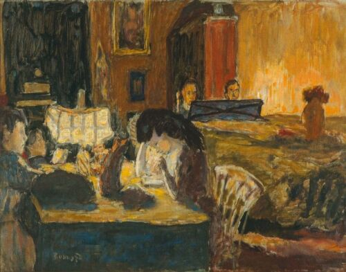 Pierre Bonnard Evening In The Living Room Canvas Print 16 x 20  #3287