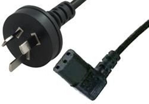 Comsol IEC-3P-02-RA Mains Power Cable 3-PIN AUS(M)  Right Angle IEC-C13(F) - 2M