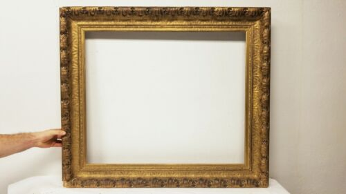 Large Antique Carved & Gilt - Plaster & Wood Picture Painting Frame