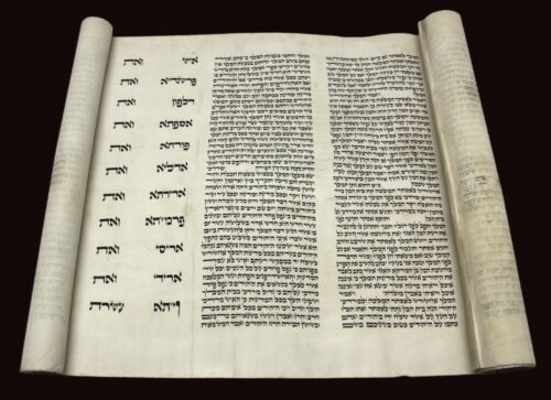 Beautiful Complete Esther Scroll Megillah Purim Handwritten on Parchment.