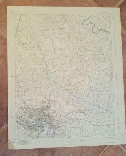 TOPOGRAPHY MAP - STATE OF VIRGINIA / RICHMOND 1931