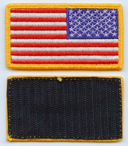 (2) USGI Full Color Reverse American Flag Patch Hook Army - 48824
