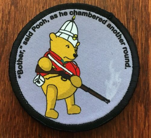 Circular  Winnie The Pooh Martini Henry Morale Patch Tactical Military USA ArmyArmy - 48824