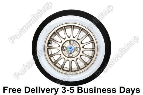 Porta walls 17''car Tire Add On White Walls Vintage,Rat Hot Street Rod,custom