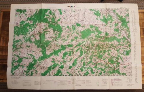 WWII - 1944 - BRITISH/US MAP - CENTRAL EUROPE - BONN, GERMANY