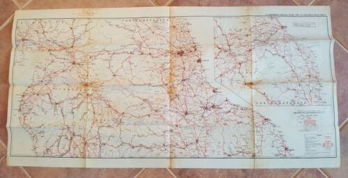 WWII Era - US ENGINEERS SPECIAL ROAD MAP OF ENGLAND & WALES (SHEET 8)