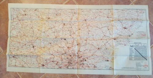 WWII Era - US ENGINEERS SPECIAL ROAD MAP OF ENGLAND & WALES (SHEET 3)
