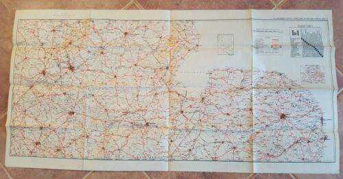 WWII Era - US ENGINEERS SPECIAL ROAD MAP OF ENGLAND & WALES (SHEET 5)