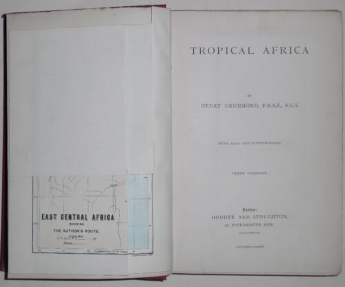 Tropical Africa by Drummond maps illustrations London 1888