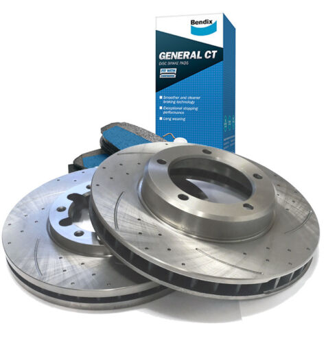 MR2 2.0 Turbo Front Driled Grooved Brake Discs 90-91