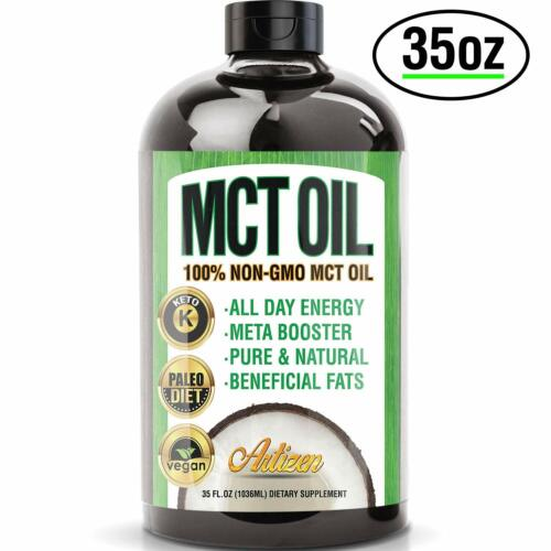 100% PURE MCT Oil HUGE 35oz (Raise Ketones High Faster C8 & C10 MCTs) – Artizen <br/> 10% More Oil Than Others. FREE Priority Ship (1-3 days)