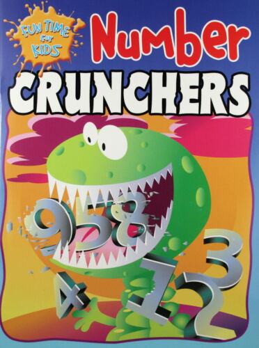 FUN TIME FOR KIDS * NUMBER CRUNCHERS * NEW PAPERBACK * FREE POSTAGE AUSTRALIA