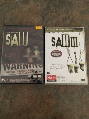 Saw 1 And 3 Dvds