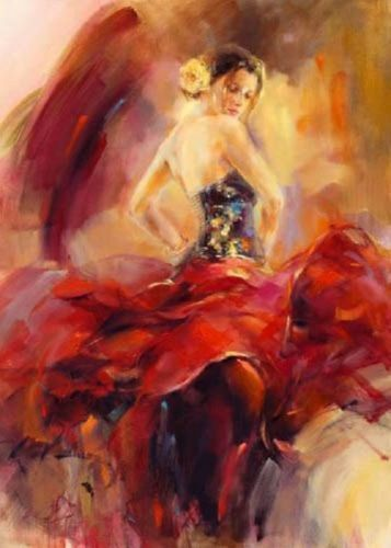 ZWPT353 100% hand-painted fancy abstract girl home art oil painting on canvas