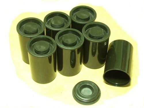 50 Black Fuji Film Canisters Cannisters Containers. BRAND NEW. FREE SHIPPING.