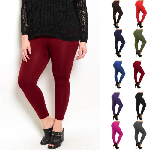 Fleece Plus Size Leggings Lined Thick Warm Winter Solid Women Womens 1x 2x 3x XL
