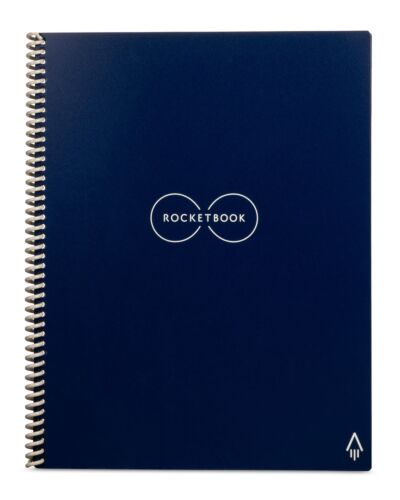 Rocketbook Everlast Letter Size Reusable Notebook (Incl. FriXion Pen) - Blue