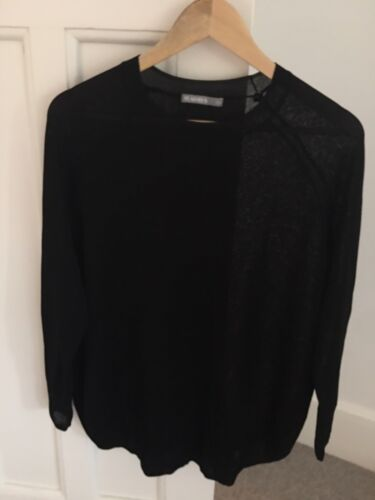 FEATHERS Women's Black Rayon Knit Jumper S/M New Without Tags