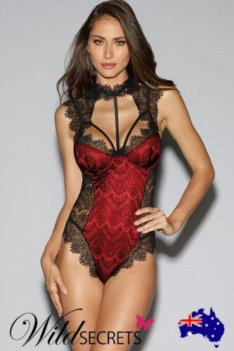 NEW Dreamgirl Madison Collared Teddy, Teddy/Bodysuit, Womens Sexy Lingerie