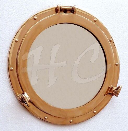 "Brass Porthole Window ~ Cabin Boat Porthole ~ 12"" Ship Porthole ~ Nautical Decor"