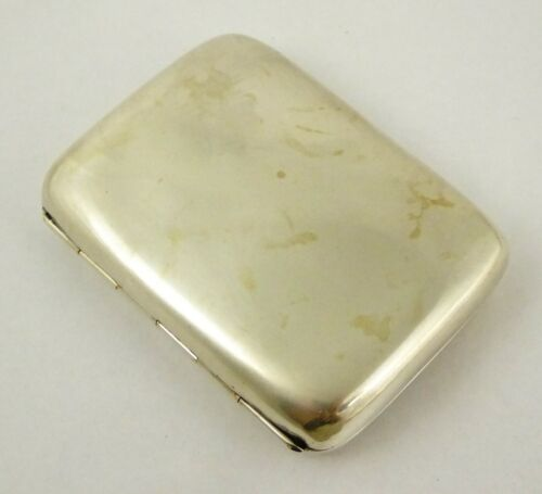 Antique 1910 Solid Sterling Silver Cigarette Case Fits a Credit Card  Layby AVA