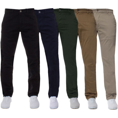 Enzo Jeans Mens Super Skinny Slim Fit Chinos Stretch Trousers Pants