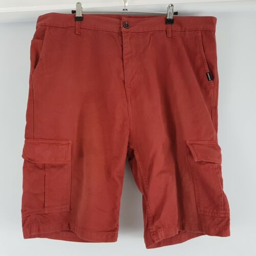 Quiksilver Casual Shorts Plain Red Zip Fly Sz Tag 38 Men's W40.5
