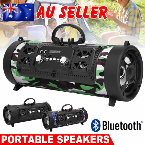 Portable Wireless Bluetooth Speakers Stereo Bass USB/TF/ Radio Outdoor Subwoofer