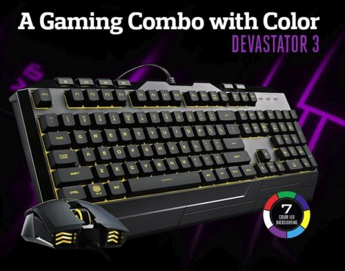 Cooler Master Devastator 3 Gaming Keyboard and Mouse Combo with RGB backlight