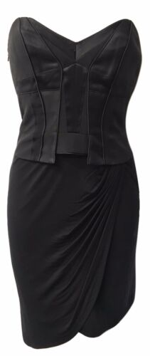 c343facb0e Black Karen Millen Gothic Corset dress UK Size 12, US Size 8