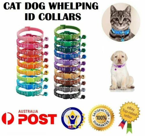 Dog Cat Collar Pet Puppy Kitten Adjustable Harness Neck Strap with Bell