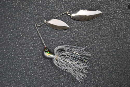 2 X Spinnerbaits Twin Arm Quad Blade Murray Cod /& Yellow Belly MUZZA/'S LURES