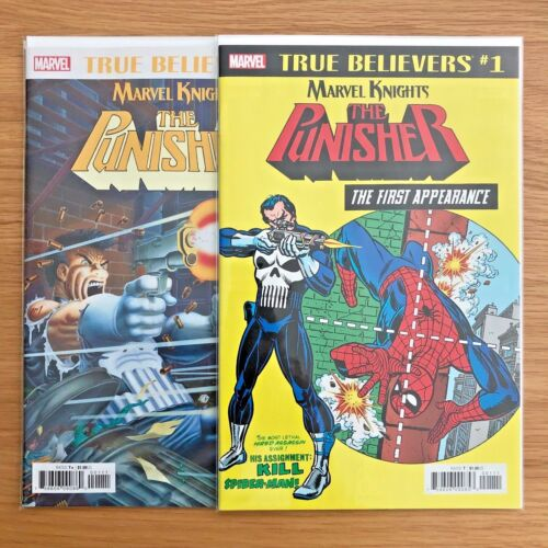 True Believers: Punisher First Appearance #1 & Punisher #1, Marvel Comics, NM