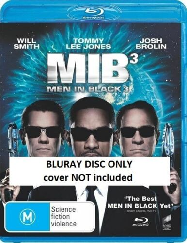 Men In Black 3 (BluRay, 2012) // DISC ONLY // NO COVER