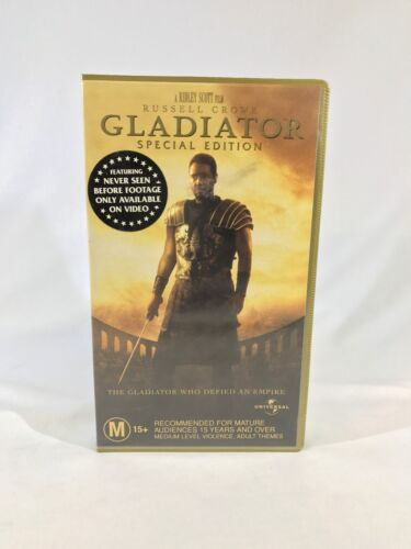 Gladiator Special Edition Movie VHS Video Tape Universal Russell Crowe
