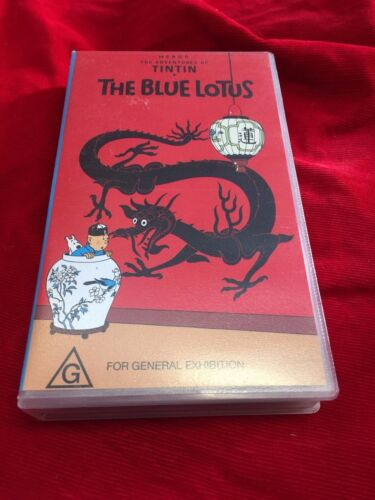 The Adventures Of Tin Tin The Blue Lotus VHS Tape ABC Video Rare