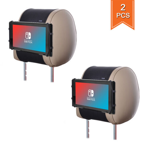 TFY Car Headrest Mount Silicon Game Holder Nintendo Switch Stand for Tablet 2pcs