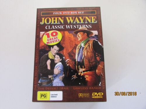 John Wayne Classic Western DVDs - 10 movies from the 1930's, 4 disc set