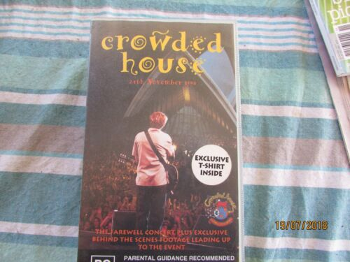 Crowded House - Farewell to the World VHS Video